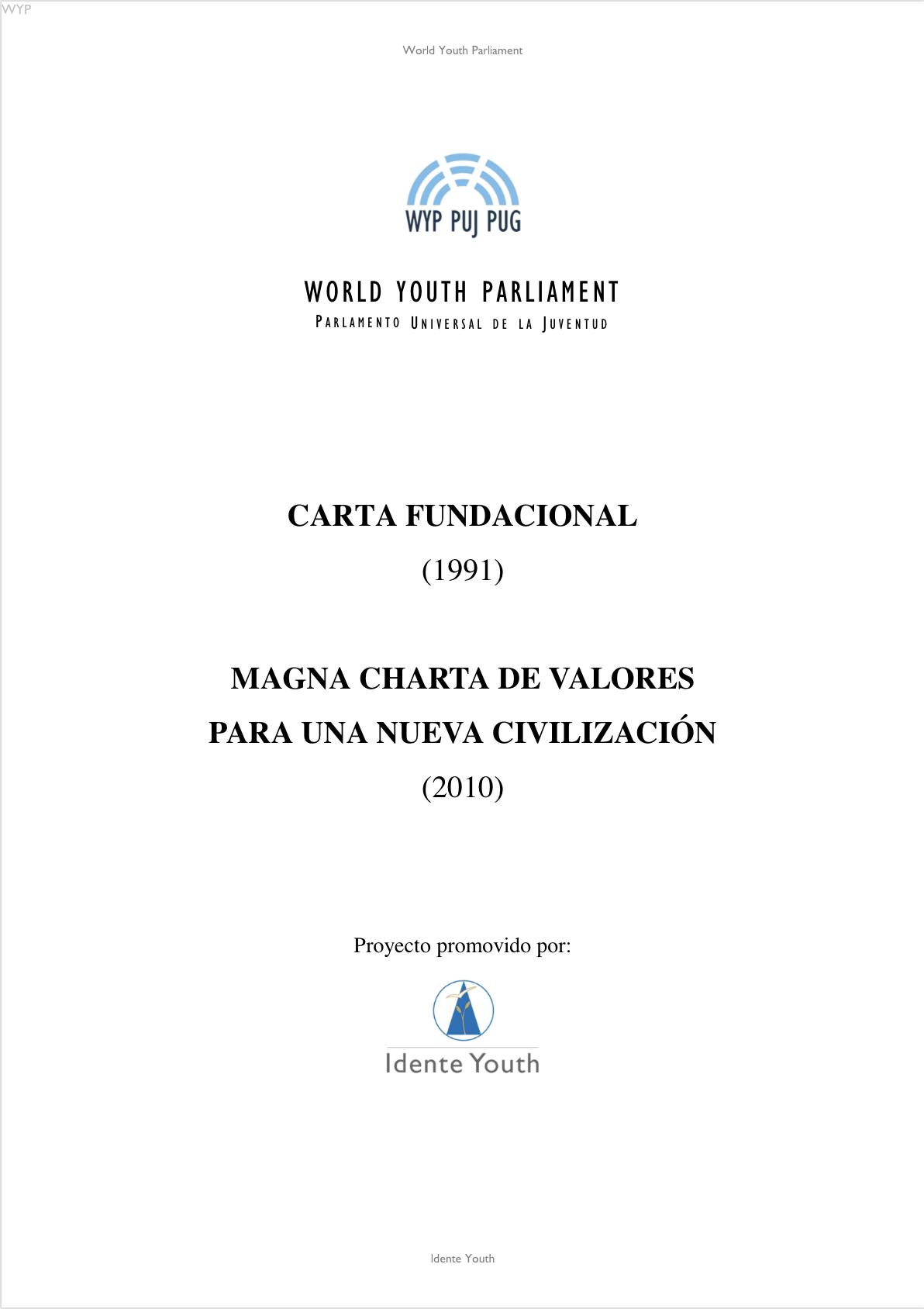 Carta Fundacional y Magna Charta_WYP